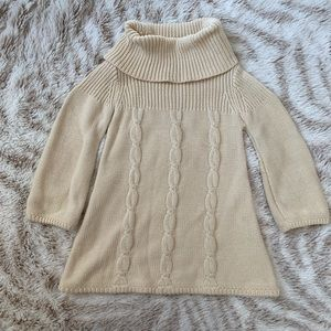 Baby Gap cream sweater dress cable knit tunic 3T